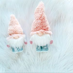Christmas light up gnomes Pink farmhouse